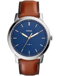 Fossil The Minimalist 3h Heren Horloge Fs5304 - Metallic