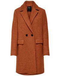ONLY Coat Bruin/oranje