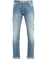 America Today Tapered Fit Jeans Selvedge - Blauw