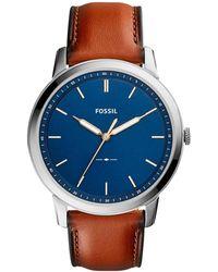 Fossil Horloge The Minimalist 3hfs5304 - Metallic