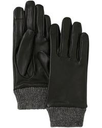 Pieces Leren Handschoen Smart Zwart