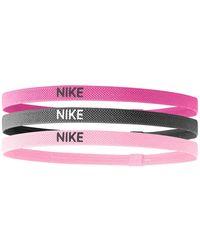 Nike Haarbandjes (set Van 3) Fuchsia/grijs/roze