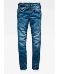 G-Star RAW Midge Saddle Straight Fit Jeans - Blauw