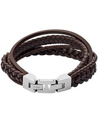 Fossil Vintage Casual Heren Armband Jf03190040 - Bruin
