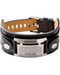 Fossil Heren Armband Vintage Casual Jf84816040 - Zwart