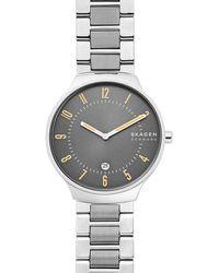 Skagen Grenen Heren Horloge Skw6523 - Metallic