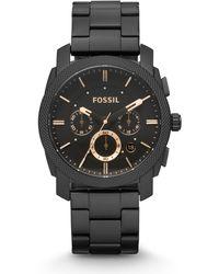 Fossil Machine Heren Horloge Fs4682ie - Zwart