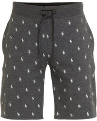 Polo Ralph Lauren Pyjamashort Met All Over Print Antraciet - Grijs