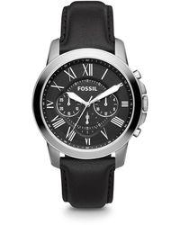 Fossil Grant Heren Horloge Fs4812ie - Zwart