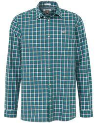 Tommy Hilfiger Geruit Regular Fit Overhemd Groen
