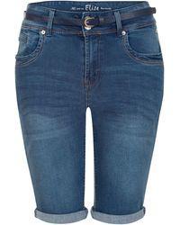 Miss Etam Regulier Jeans Short Donkerblauw