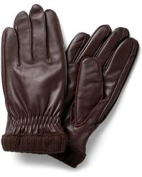 Jack & Jones Leren Handschoenen Bruin