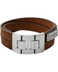 Fossil Heren Armband Vintage Casual Jf03188040 - Bruin