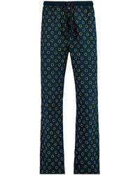 America Today Pyjamabroek Smiley Met All Over Print Donkerblauw