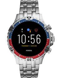 Fossil Garrett Hr Gen 5 Heren Display Smartwatch Ftw4040 - Metallic