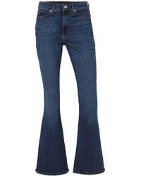 Banana Republic High Waist Flared Jeans Blauw