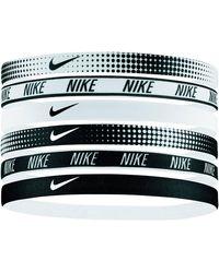 Nike Hoofdbandjes Printed (set Van 6) - Zwart
