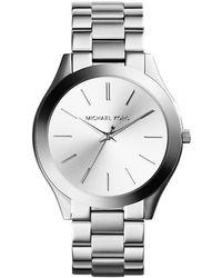 Michael Kors Slim Runway Horloge - Mk3178 - Metallic