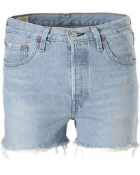 Levi's 501 High Waisted Jeans Shorts - Blauw