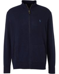 Polo Ralph Lauren Wollen Vest Donkerblauw