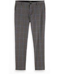 Scotch & Soda - Geruite Regular Fit Pantalon - Lyst