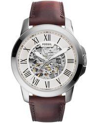 Fossil Grant Heren Horloge Me3099 - Metallic