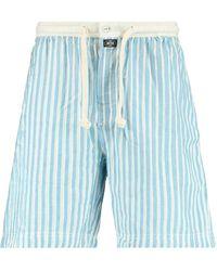 America Today Gestreepte Pyjamashort Lake Lichtblauw/ecru