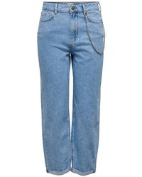 ONLY High Waist Boyfriend Jeans Blauw