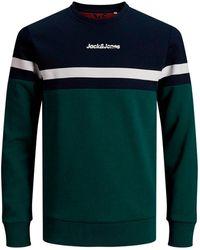 Jack & Jones Originals Sweater Groen/donkerblauw/wit