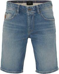 Vanguard Regular Fit Jeans Short Blauw