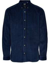 Only & Sons - Gestreept Corduroy Regular Fit Overhemd - Lyst