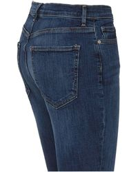Banana Republic High Waist Flared Jeans Blauw