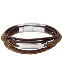 Fossil Heren Armband Vintage Casual Jf02703040 - Bruin