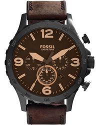 Fossil Nate Heren Horloge Jr1487 - Zwart