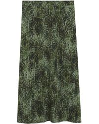 Mango Rok Met All Over Print Groen
