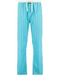 America Today Gestreepte Pyjamabroek Lake Blauw/wit