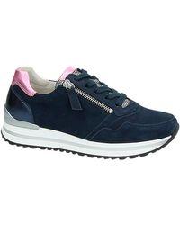 Gabor Suède Sneakers Donkerblauw