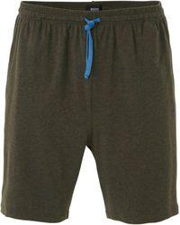 BOSS Pyjamashort Donkergrijs