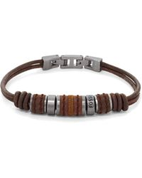 Fossil Heren Armband Vintage Casual Jf00900797 - Bruin