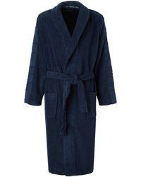 Calvin Klein Underwear Fleece Badjas Blauw