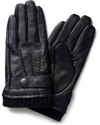 Jack & Jones Leren Handschoenen Zwart