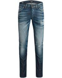 Jack & Jones Skinny Jeans Glenn Blue Denim - Blauw