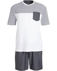 C&A Canda Pyjama Wit/grijs