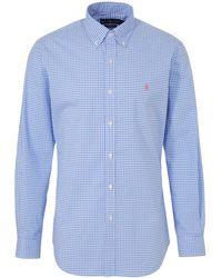 Polo Ralph Lauren - Geruit Slim Fit Overhemd Blauw/wit - Lyst