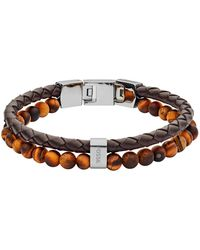 Fossil Vintage Casual Heren Armband Jf03118040 - Bruin