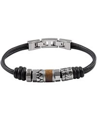 Fossil Vintage Casual Heren Armband Jf84196040 - Zwart