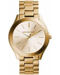 Michael Kors Horloge Slim Runway Mk3179 - Metallic