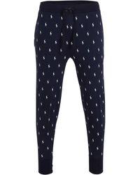 Polo Ralph Lauren Pyjamabroek Met All Over Print Donkerblauw