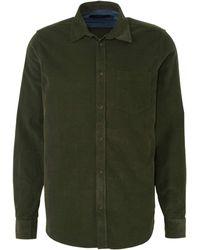 Suit Corduroy Regular Fit Overhemd Donkergroen
