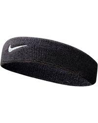 Nike Hoofdband Swoosh Zwart/wit